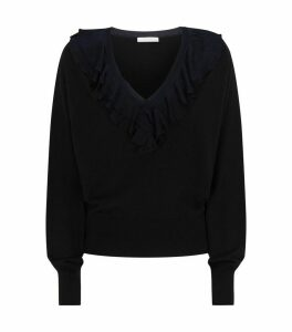 Ruffled Wool Sweater