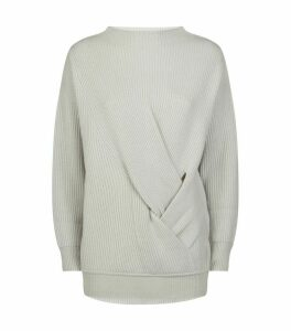Ribbed Wool-Cashmere Verace Sweater