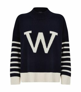 Cotton Logo Stripe Sweater