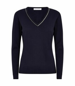 Embellished V-Neck Sweater