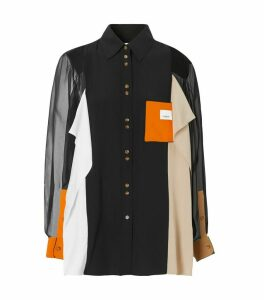 Colour-Block Silk Shirt