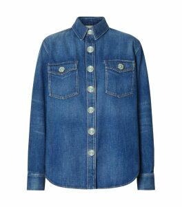 Logo Applique Denim Shirt
