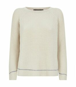 Cotton-Wool Ribbed Sequin Sweater