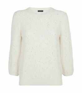 Cotton Sequin-Embellished Sweater