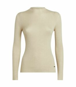 Cashmere-Silk Ribbed Sweater