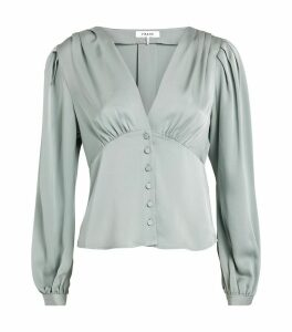 Silk Empire Pleat Blouse