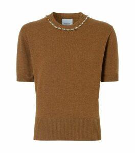Embellished Cashmere Top