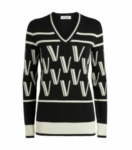 Cashmere-Wool Jacquard Sweater