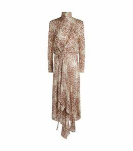 Abia Drape Midi Dress