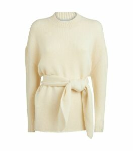 Cashmere-Silk Belted Sweater