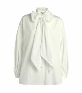Liana Cotton Pussybow Shirt