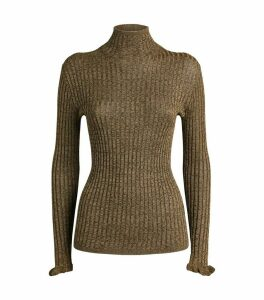 Metallic Rollneck Sweater