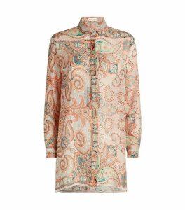 Silk Paisley Crépon Shirt