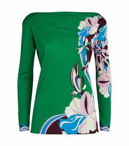 Vahine Print Long-Sleeved Blouse