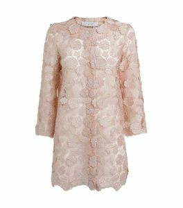 Short Embroidered Tulle Coat