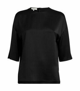 Silk Split-Hem Top