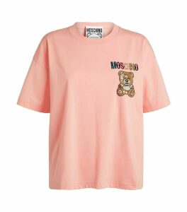 Crystal-Embellished Teddy Bear T-Shirt