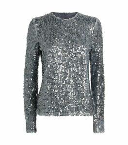 Oasis Sequin-Embellished Top