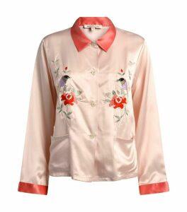 Embroidered Sawyer Pyjama Shirt