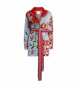Cotton Enchanted Leopard Belted Cardigan