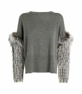Fur Cuff Sweater