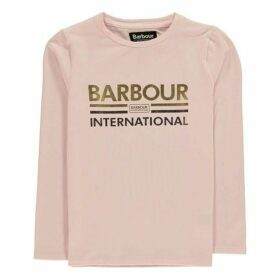 Barbour International Long Sleeve Logo T Shirt