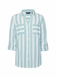 Womens Blue Striped Shirt, Blue
