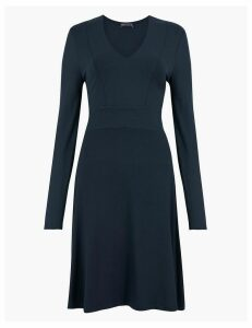 M&S Collection Knee Length Jersey Fit & Flare Dress
