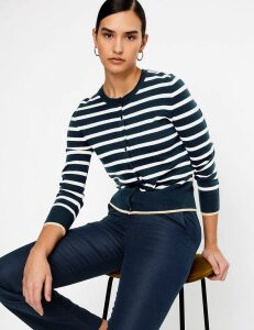 Autograph Pure Cashmere Striped Regular Fit Cardigan