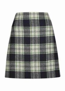 Elea Wool Skirt Ivory Green