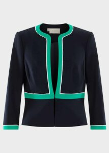 Nala Jacket Navy Green Ivry