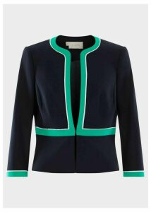 Nala Jacket Navy Green Ivry