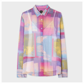 Women's Multi-Coloured 'Space Photos' Print Shirt