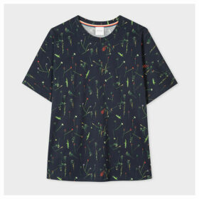 Women's Navy 'Achille Pinto' Print T-Shirt With Dolman Sleeves