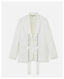 Stella McCartney White Annamarie Jacket WATW capsule, Women's, Size 16