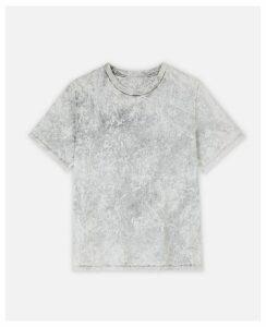 Stella McCartney GREY Logo T-shirt, Women's, Size 4