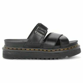 Dr Martens  Dr Martens Ryker model sandal made of black leather  women's Mules / Casual Shoes in Black