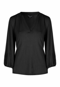 Womens Black Jersey Shirt