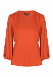 Womens Rust Jersey Shirt