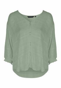 Womens Sage Button Shirt