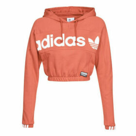 adidas  Hoodie Cropped  women's Sweatshirt in Red