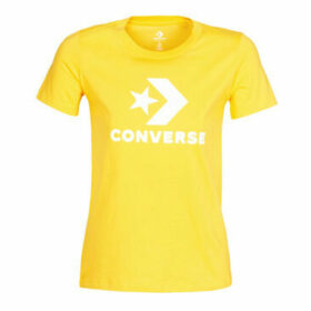 Converse  Star Chevron Tee  women's T shirt in Yellow