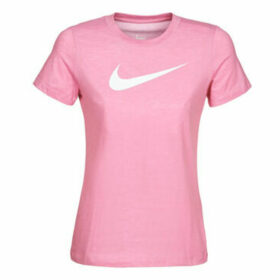 Nike  W NK DRY TEE DFC CREW  women's T shirt in Pink