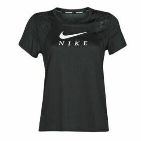 Nike  W NK RUN TOP SS GX  women's T shirt in Black