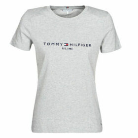 Tommy Hilfiger  NEW TH ESS HILFIGER CNK TEE SS  women's T shirt in Grey