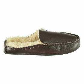Howick Leather Mule Slippers