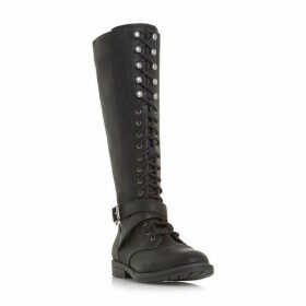 Head Over Heels Tibbie Lace Up Knee High Boots