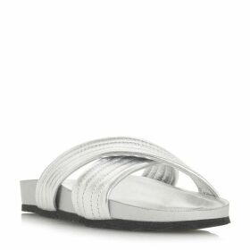 Dune Linate Ribbed Cross Vamp Slider Shoes