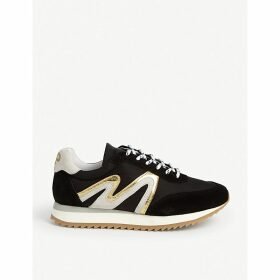 Abigaille leather and suede trainers