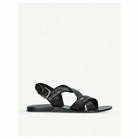 Nos strap leather sandals